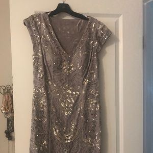 She Wong silver dress